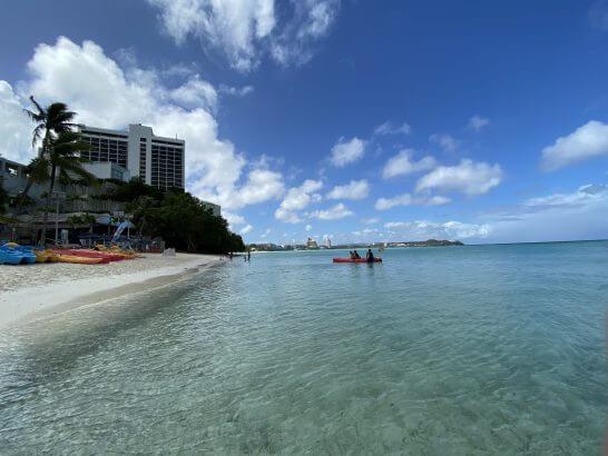 ウェスティンホテル グアムのプライベートビーチ