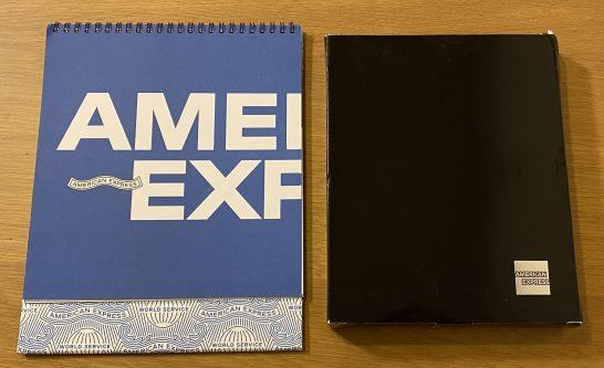 アメックスのカレンダーとノート