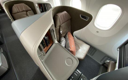 シンガポール航空のビジネスクラス