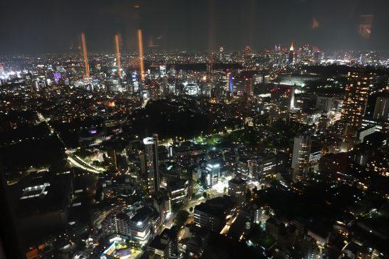 リッツカールトン東京のクラブラウンジの夜景