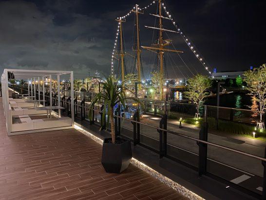インターコンチネンタル横浜Pier8 LarboardのテラスBOX(夜景)