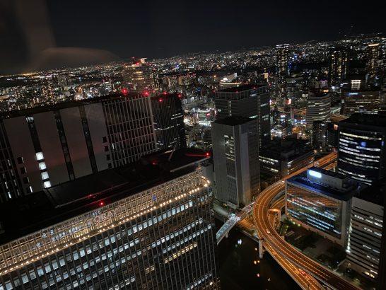 コンラッド大阪の39階からの夜景 (2)