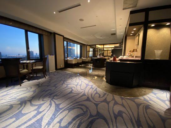ウェスティンホテル大阪のエグゼクティブクラブラウンジのカクテルタイム