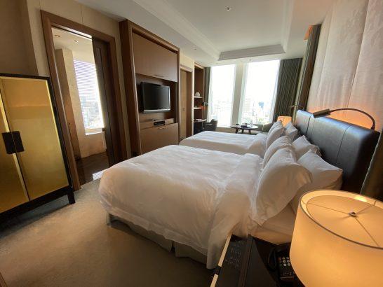 セントレジスホテル大阪のツインルーム