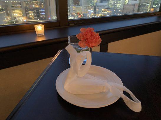 ウェスティンホテル大阪のエグゼクティブクラブラウンジのマスク置き