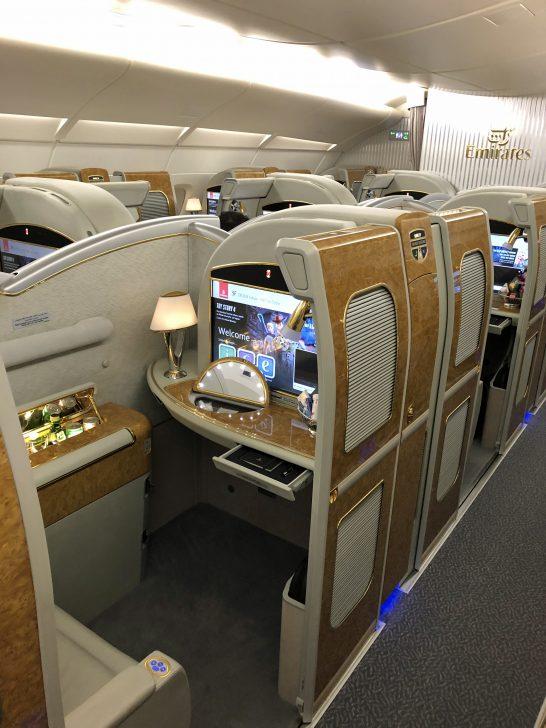 エミレーツ航空のファーストクラス
