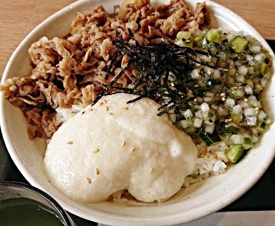 松屋「山形だしの三色丼」590円or530円2020年8月4日実物3
