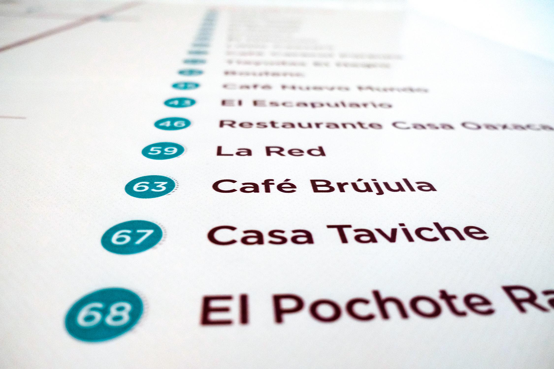 Oaxaca Map - Detail Places Shot