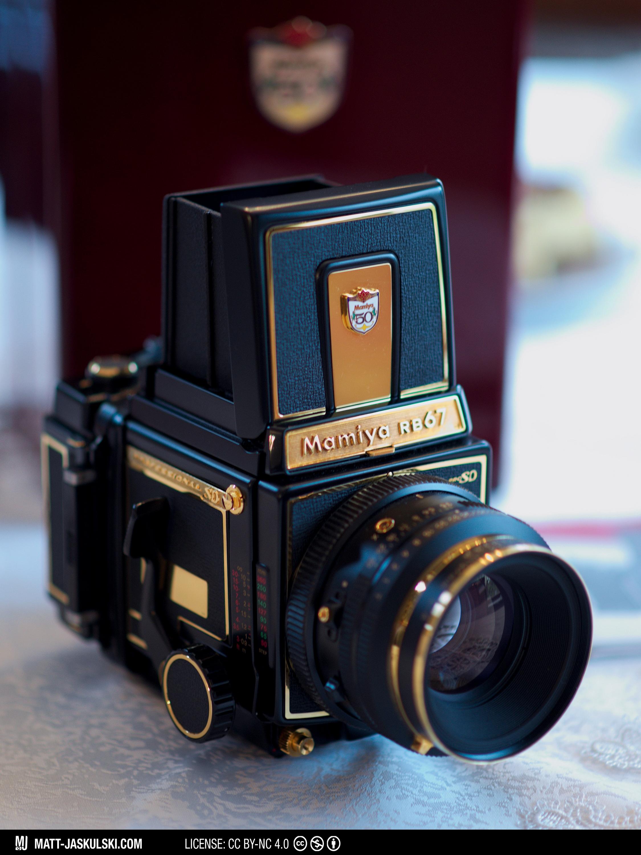 Rare Camera: 18 karat Gold Mamiya RB67 ProSD   Matt