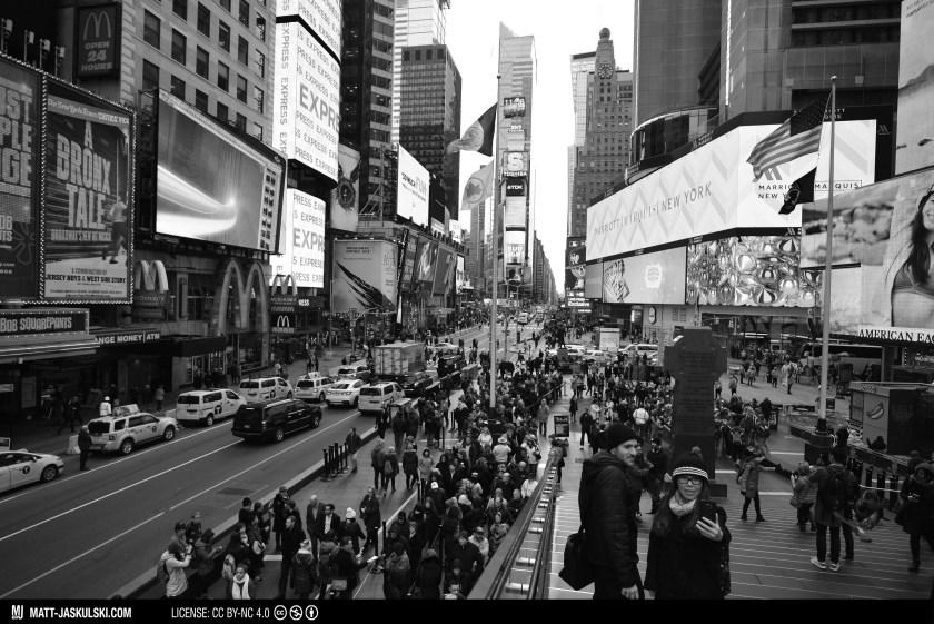 architecture blackandwhite bnw city cityscape d800 newyork newyorkcity Nikon nikonphotography nyc people street streetphoto timessquare urban