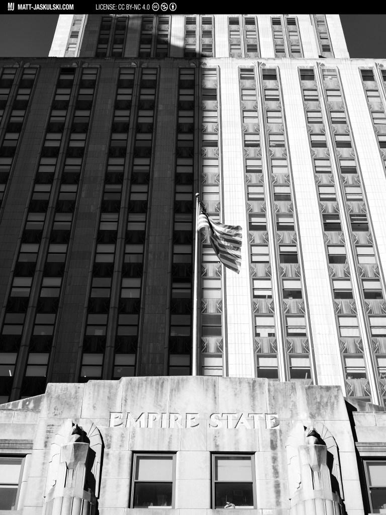 architecture blackandwhite bnw builing city d800 empire empirestatebuilding newyork newyorkcity Nikon nikonphotography nyc shadow street streetphoto urban