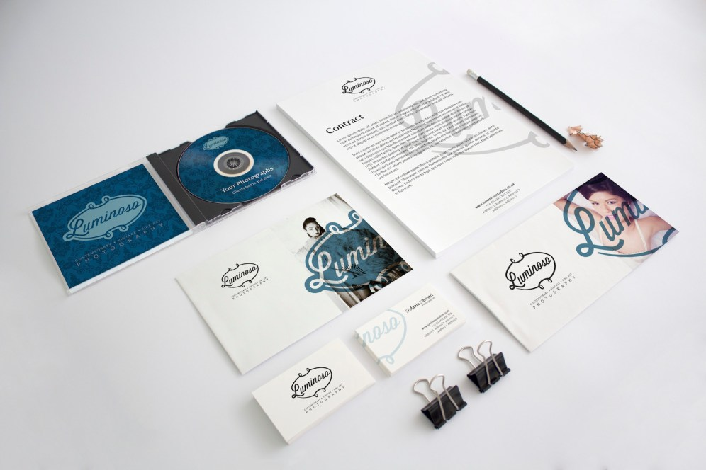Luminoso Studios Stationery Concept