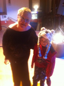 Christine Lavin and Marshall after the show