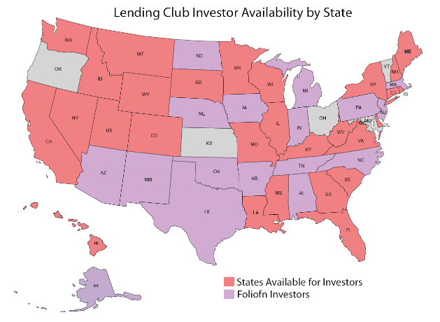 Lending Club Investor Availability by State