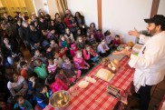 NEW YORK CITY - FEBRUARY 20: NYBG Culinary Kids program on February 20, 2017 in The Bronx, New York. (Photo by Ben Hider)