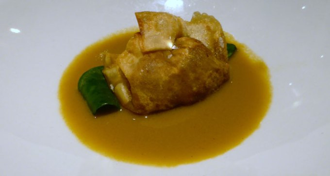 Lobster, sea aster, bisque