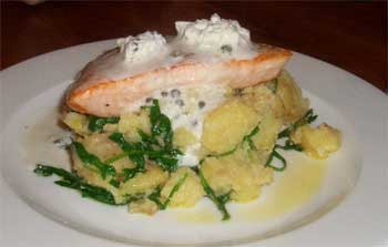 Roast salmon fillet
