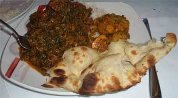 Gosht sagwala with vegetable bhajee