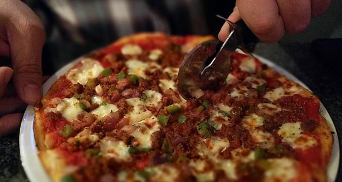 Sloppy Giuseppe pizza