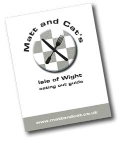 Matt and Cat's Isle of Wight Eating Out guide postcard