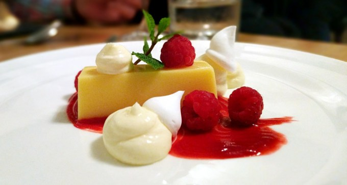 Deconstructed lemon tart
