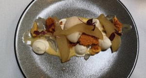 Albert Cottage, poached pear