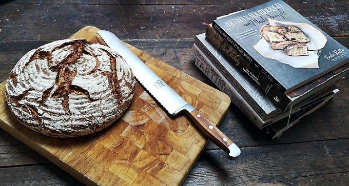 Fresh white and rye bread