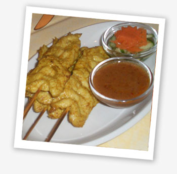 Baan Thai chicken satay