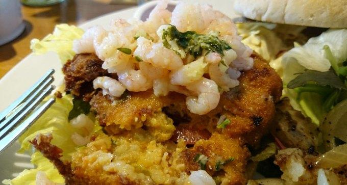 Crab burger - just look at those garlic prawns!