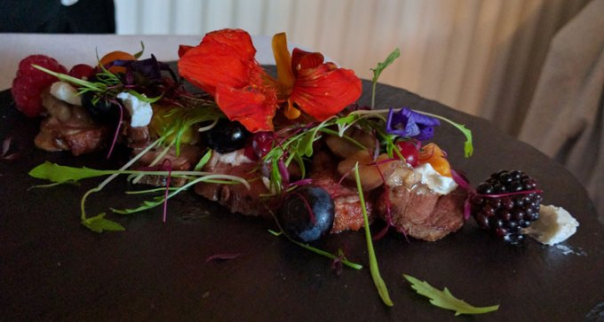 Rico Libre: duck breast, fig, chestnut and goats cheese