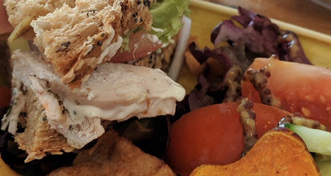 Avocado and chicken sandwich