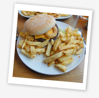 Burger, Corries Cabin, Cowes