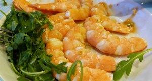 Tiger king prawns in white wine and garlic