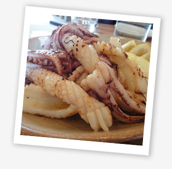Calamari: Elliot's Café, London
