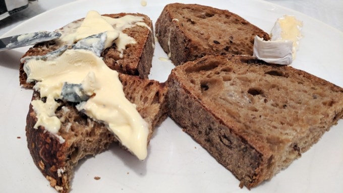 Blue Slipper cheese on seed and malty bloomer