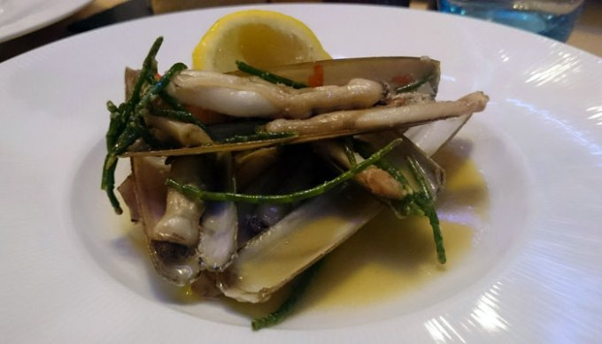 Razor clams and cockles