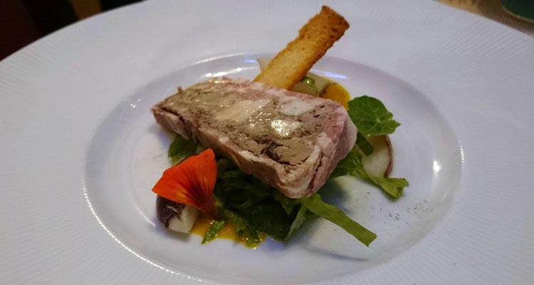 Pork and brandied chicken liver terrine