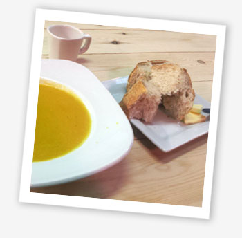 Butternut squash and coconut soup