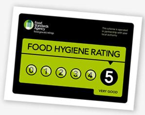 Food Hygiene Rating Scheme sticker
