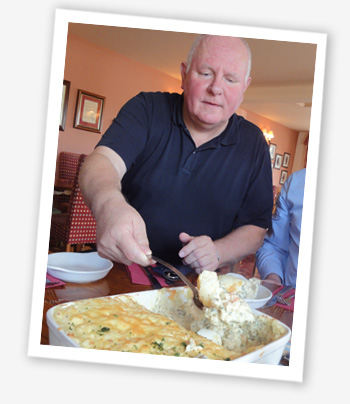 Keith Newbery serves up Wight Fish Pie