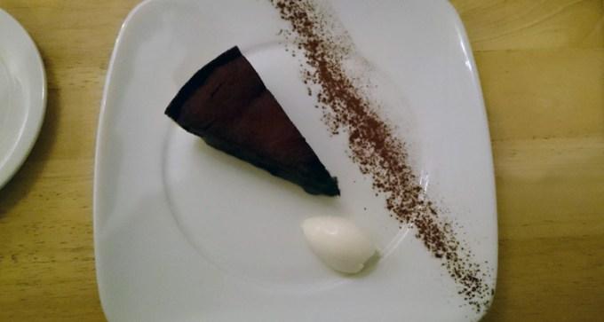 Sea salted caramel and chocolate fondant tart