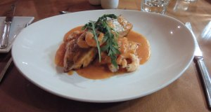 Mojac's: red snapper and tiger prawns
