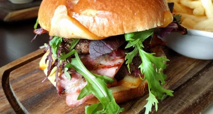 Isle of Wight prime juicy beef burger