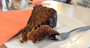 Sticky date, apple and ginger cake