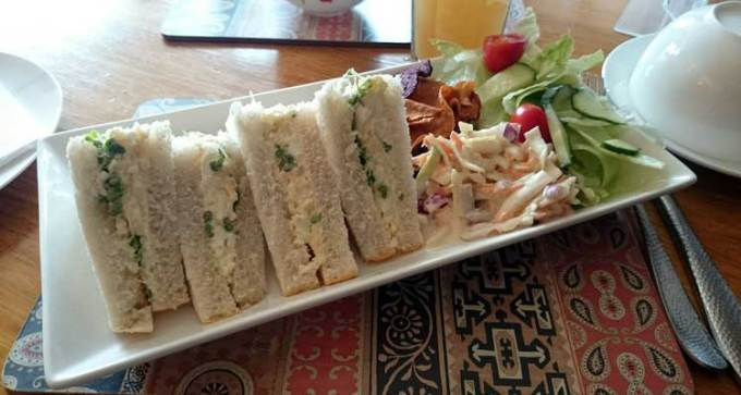 Your traditional egg and cress sandwiches