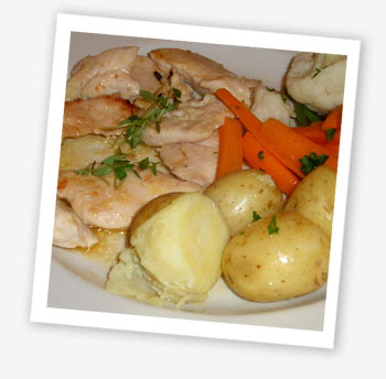 Pan fried Isle of Wight chicken with fresh thyme, Pendletons, Shanklin