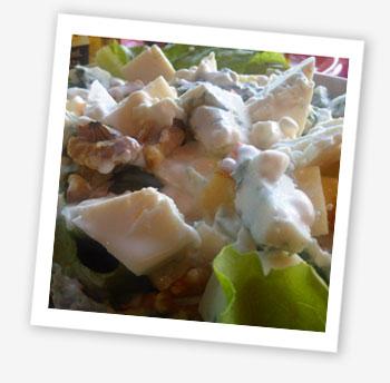 Blue cheese salad with yoghurt dressing Pintxo Playa, Ventnor