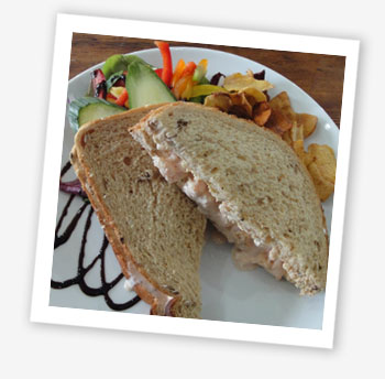 Prawn cocktail sandwich