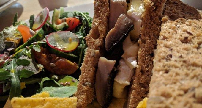Quay Arts: mushroom and Brie sandwich