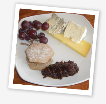 Isle of Wight cheese and biscuits